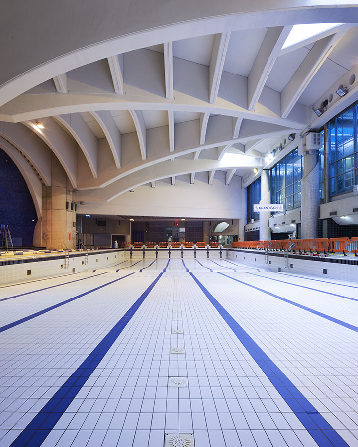 Piscine Suzanne Berlioux - Paris - architecture photographie arnaud chochon piscine vide france