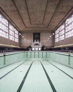 Piscine Judaïque - Bordeaux (33architecture photographie arnaud chochon piscine vide france