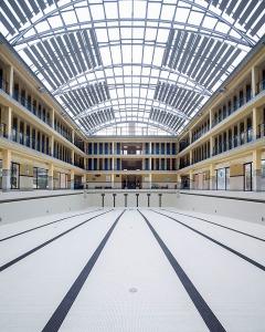 Piscine Pailleron - Paris 19èmearchitecture photographie arnaud chochon piscine vide france