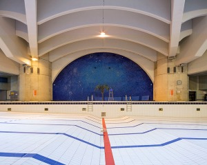 Piscine Berlioux Paris architecture photographie arnaud chochon piscine vide france