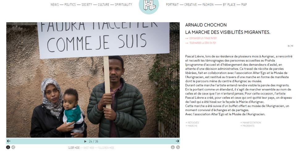Merche des visibilites migrantes arnaud chochon prahda aurignac migrant refugies france arnaud chochon