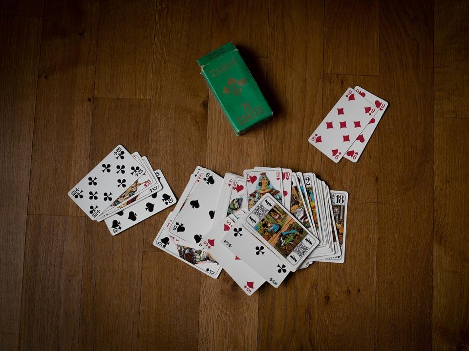 Card game. Jeu de tarot.